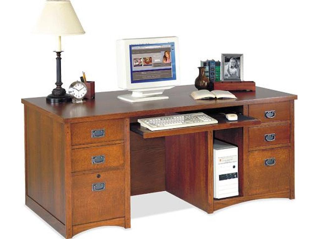kathy ireland Home by Martin California BungalowDeluxe Double Pedestal Computer Desk