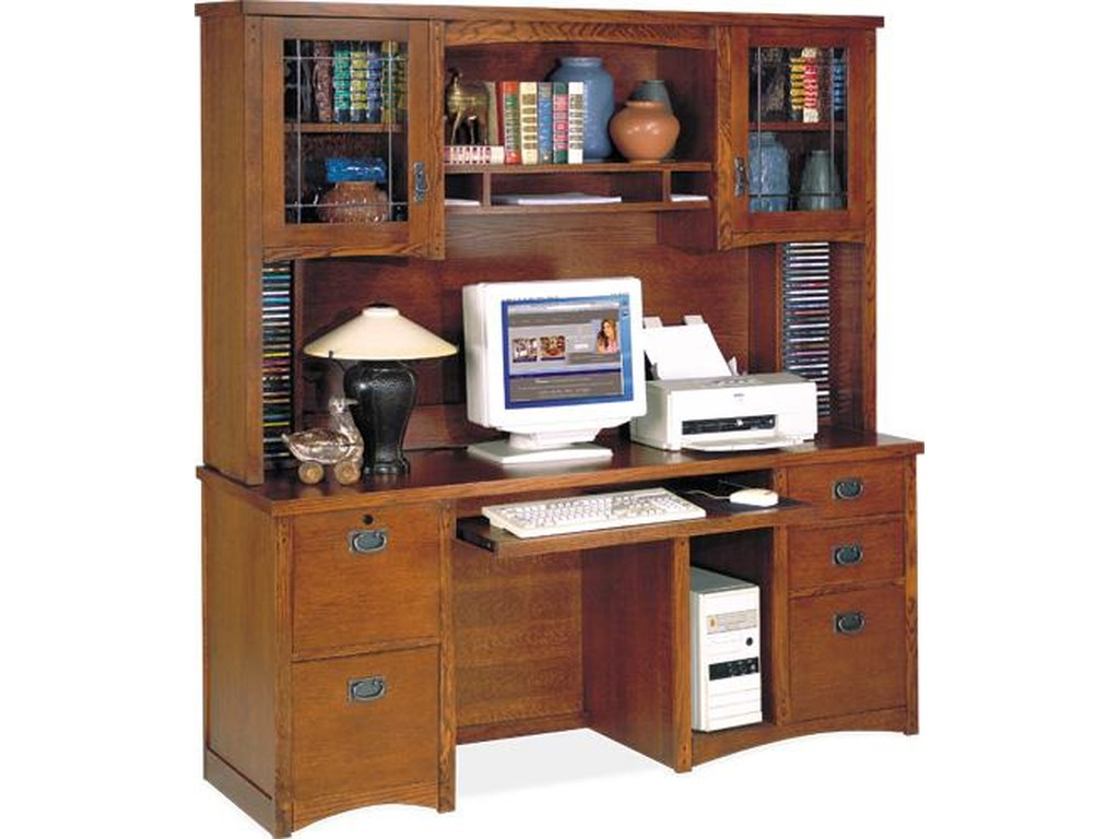 kathy ireland Home by Martin California BungalowComputer Credenza and Hutch