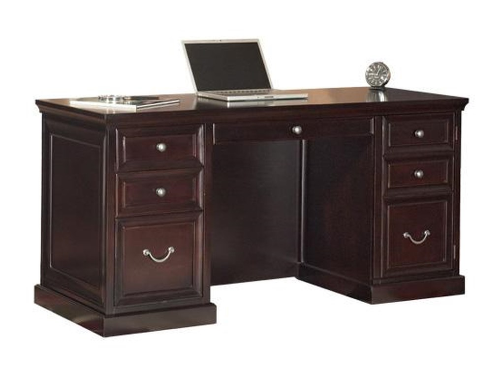 kathy ireland Home by Martin Fulton KIHSpace Saver Double Pedestal Desk