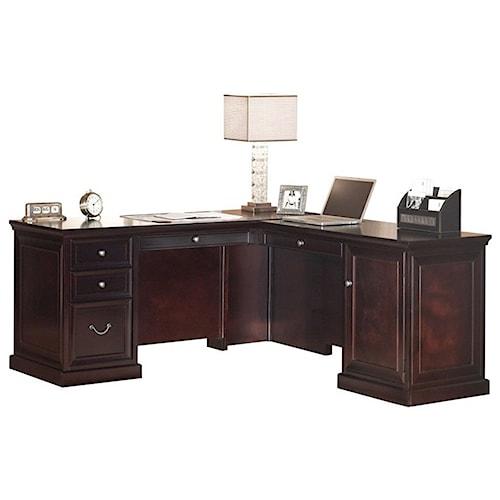 kathy ireland Home by Martin Fulton KIH Medium RHF Keyboard L Shape Desk