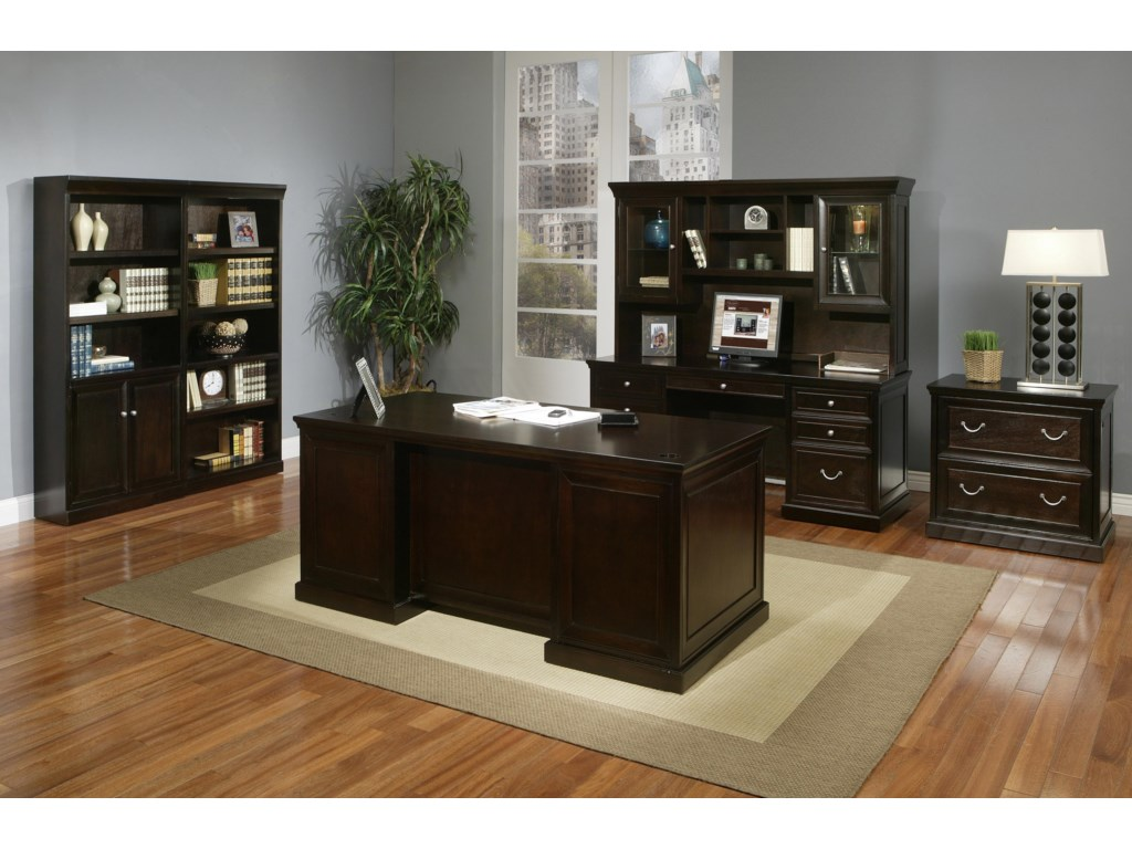 kathy ireland Home by Martin Fulton KIHComputer Credenza with Hutch