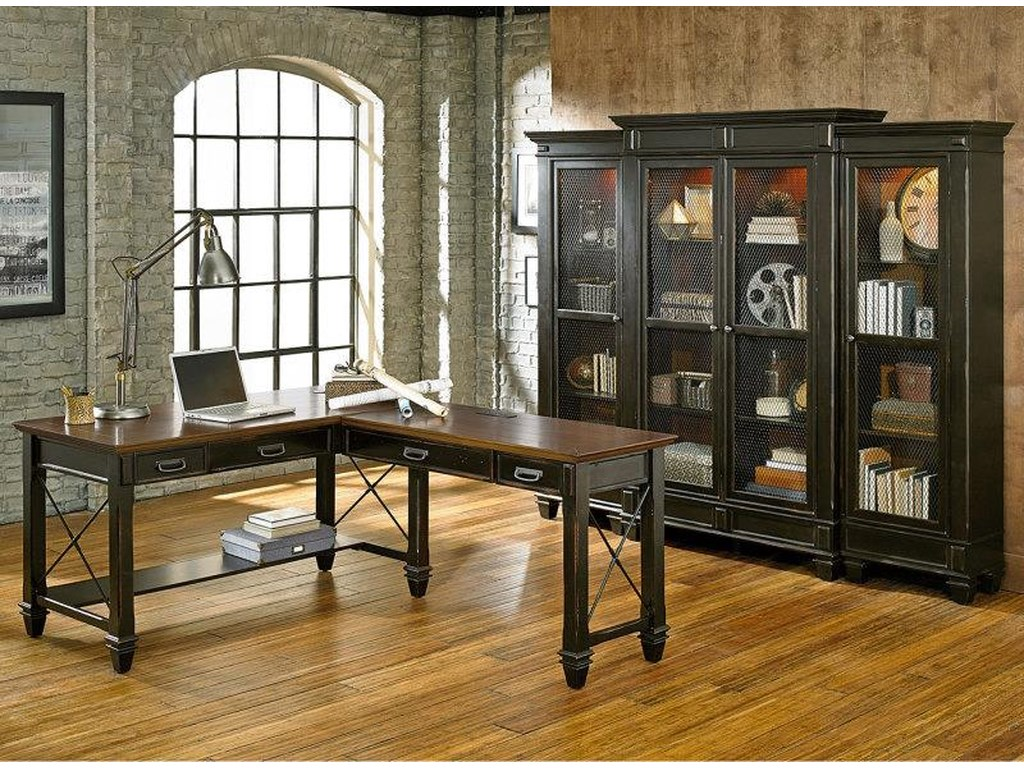 kathy ireland Home by Martin HartfordLeft Facing Half Bookcase