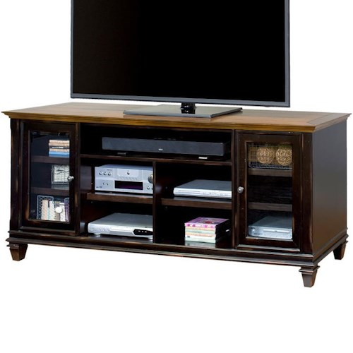 kathy ireland Home by Martin Hartford TV Console with 2 Doors and 11 Shelves