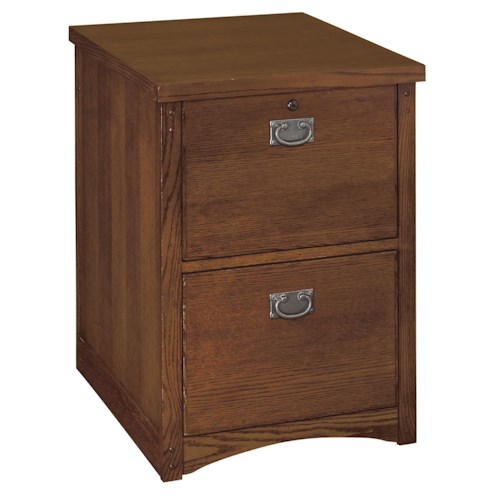 kathy ireland Home by Martin Mission Pasadena Mission Two Drawer File with Rustic Hardware