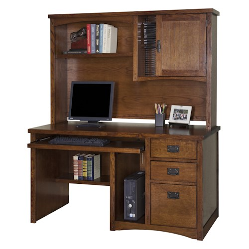 kathy ireland Home by Martin Mission Pasadena Computer Desk and Organizer Hutch