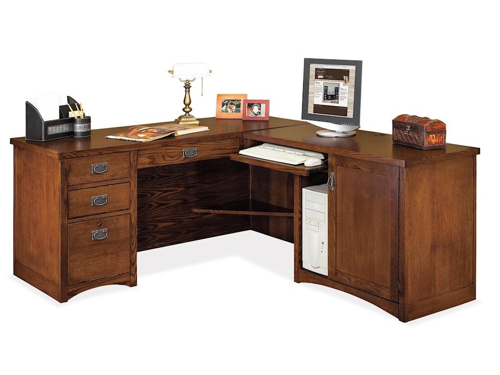 kathy ireland Home by Martin Mission PasadenaL-Shaped Executive Desk