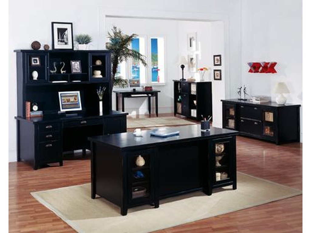 kathy ireland Home by Martin Tribeca Loft3 Drawer File & Bookcase