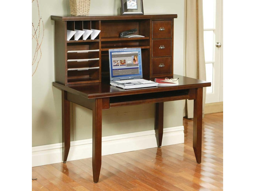 kathy ireland Home by Martin Tribeca LoftTable Desk with Keyboard Pull-Out