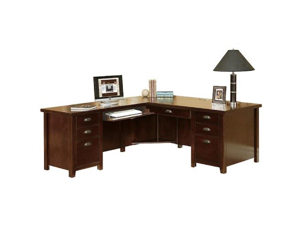 kathy ireland Home by Martin Tribeca LoftL-Shaped Executive Desk