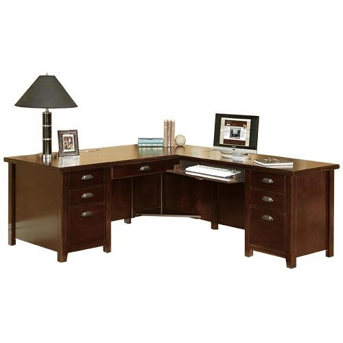 kathy ireland Home by Martin Tribeca Loft L-Shaped Right Hand Facing Executive Desk with Keyboard Return