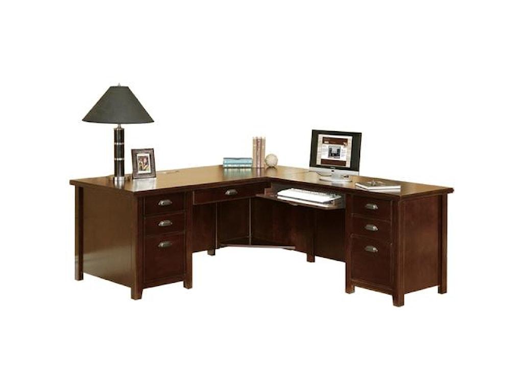 kathy ireland Home by Martin Tribeca LoftL-Shaped Right Hand Facing Executive Desk