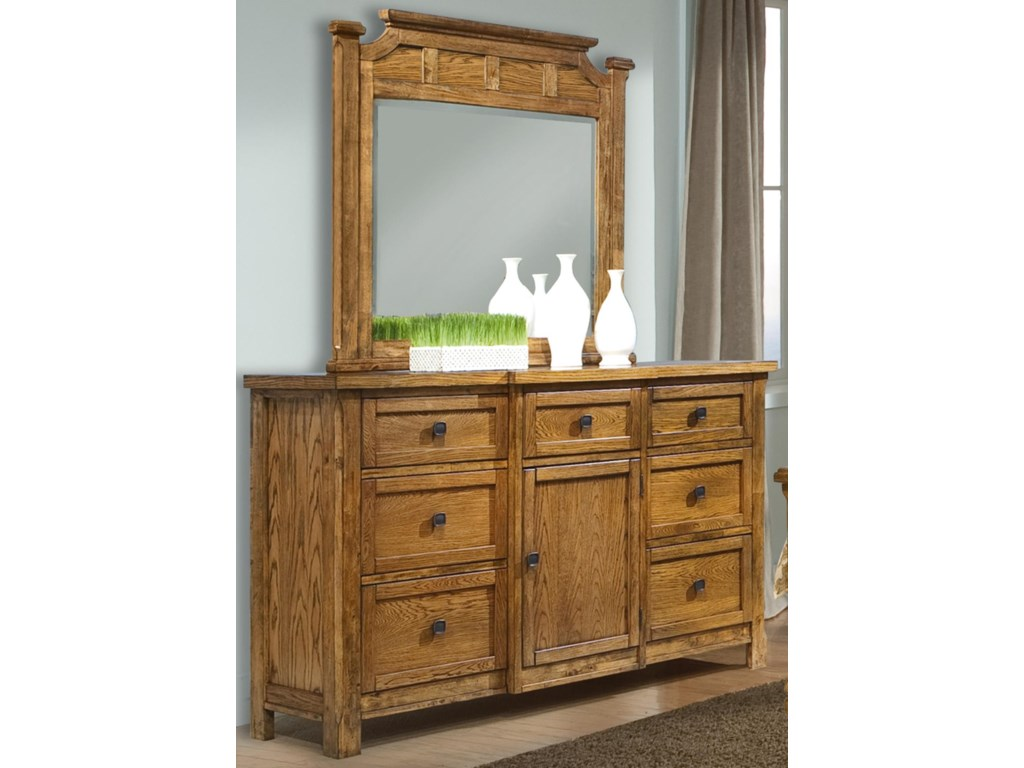 Vaughan Furniture RancheroDresser and Mirror Combo