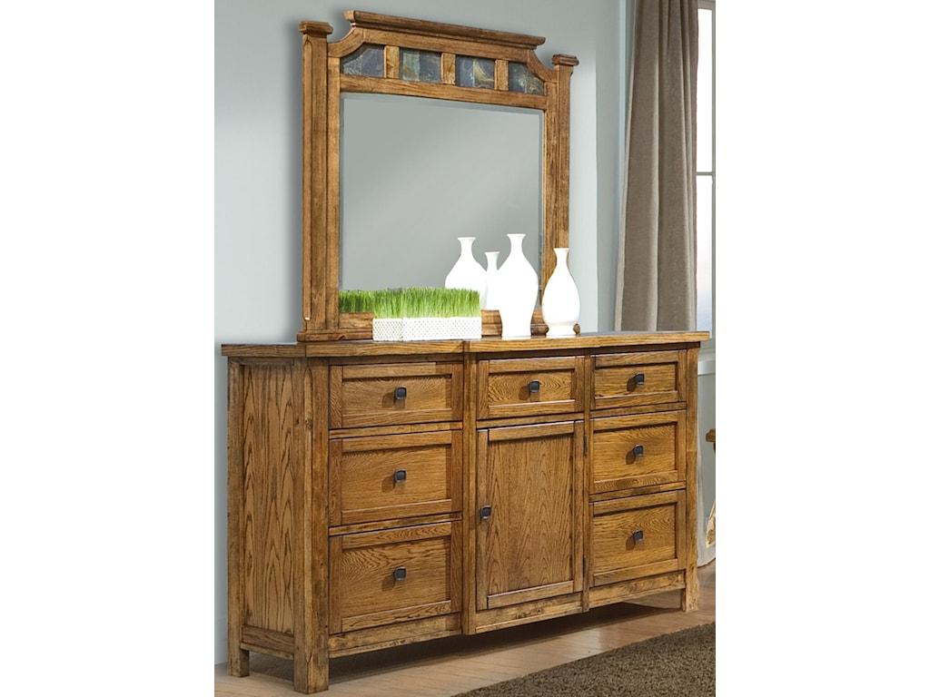 Vaughan Furniture RancheroDresser with 7 Drawers and 1 Door
