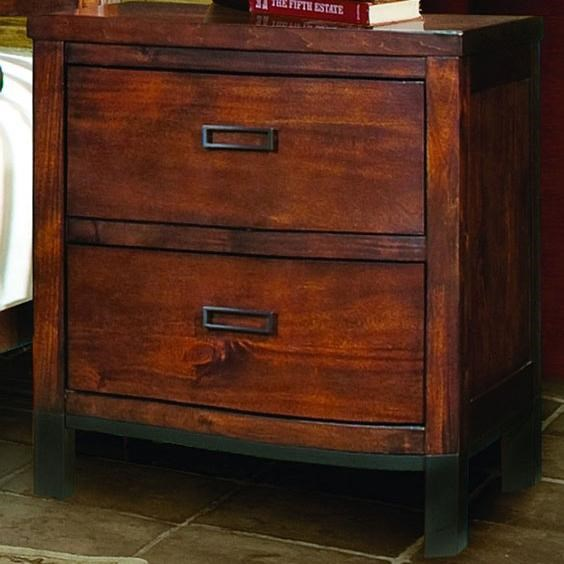 Vaughan Furniture Rustic Lodge Two Drawer Contemporary