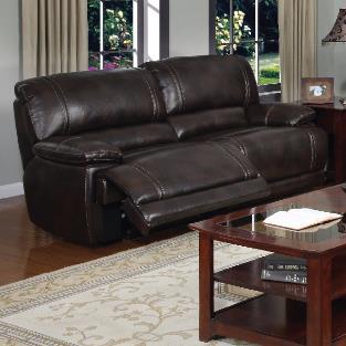 Charmant Kian 3490 Dual Recliner Sofa W/ Pillow Arms