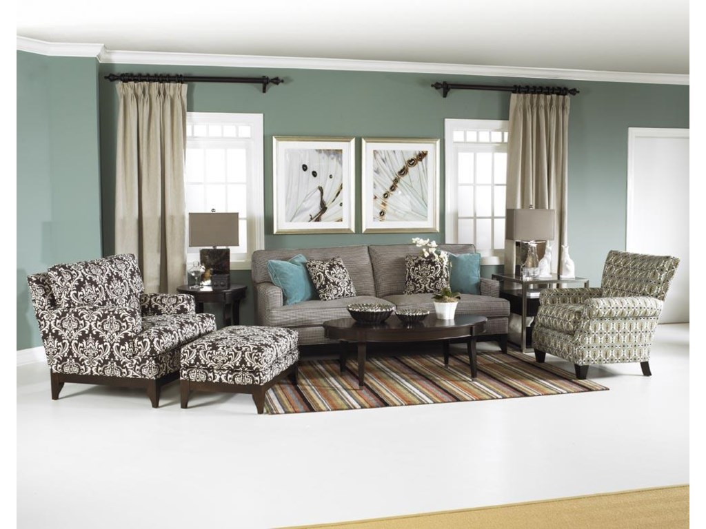 Shown Complementing the Chair, with Sofa and Accent Chair