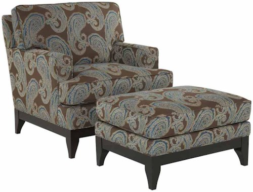 Kincaid Furniture Alston Contemporary Chair and Ottoman Set