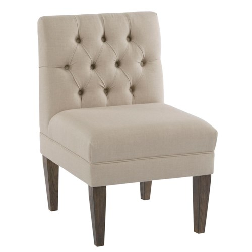 Kincaid Furniture Artisan's Shoppe Dining Armless Chair Banquette Section with Button Tufting
