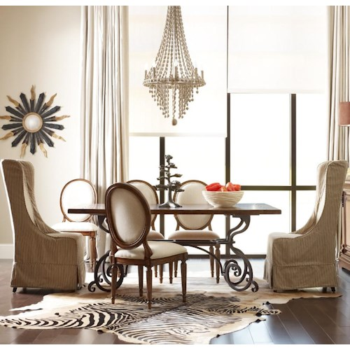 Kincaid Furniture Artisan's Shoppe Dining - Tobacco Tradtional Seven Piece 72