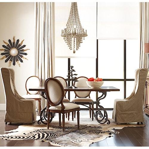 Kincaid Furniture Artisan's Shoppe Dining Tradtional Seven Piece 72