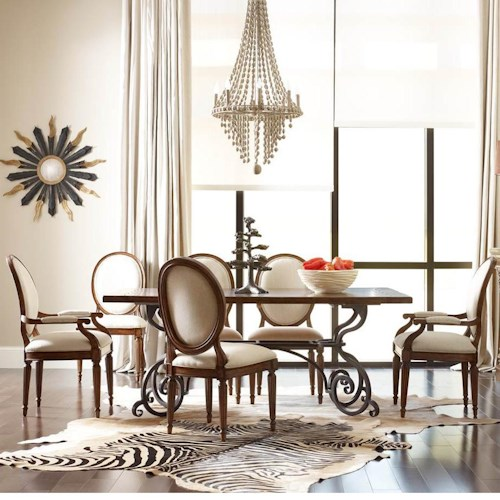Kincaid Furniture Artisan's Shoppe Dining - Tobacco Traditional Seven Piece 72