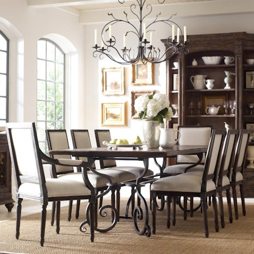 Kincaid Furniture Artisan's Shoppe Dining Traditional Nine Piece 94