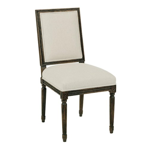 Kincaid Furniture Artisan's Shoppe Dining Traditional Upholstered French Side Chair