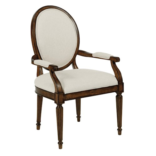 Kincaid Furniture Artisan's Shoppe Dining Traditional Oval-Backed Dining Arm Chair