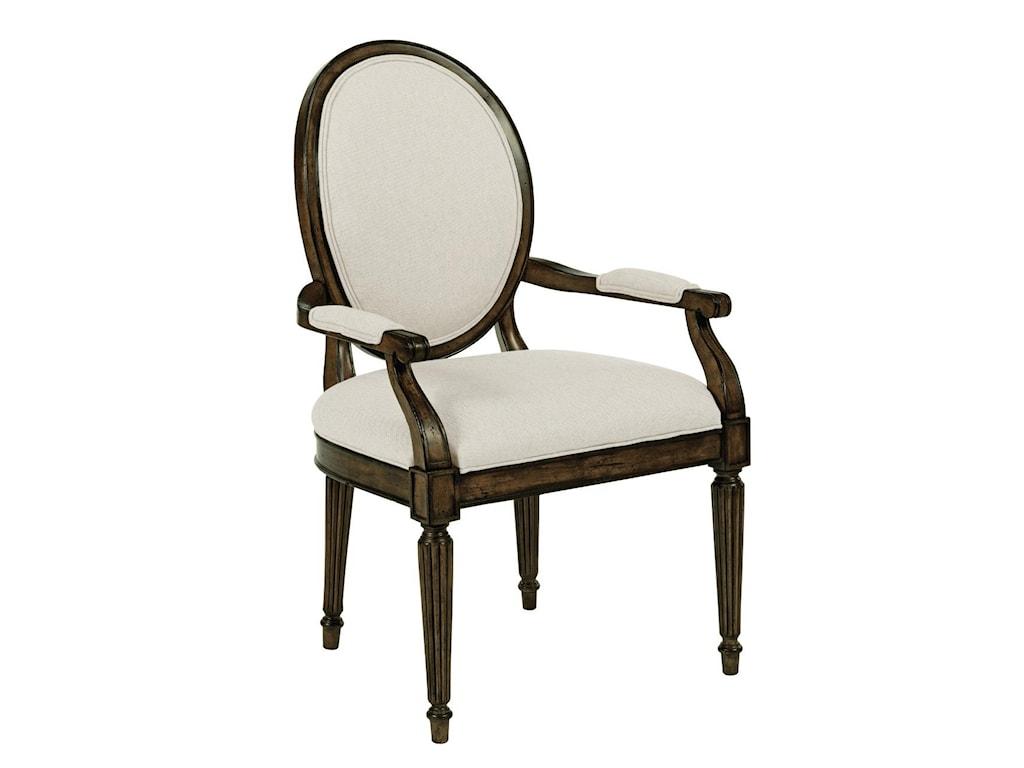 Kincaid Furniture Artisan's Shoppe DiningOval-Backed Dining Arm Chair
