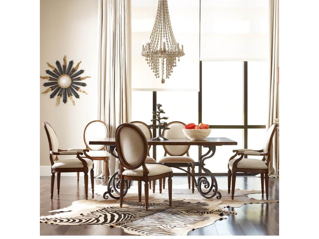 Shown with Rectangular Table and Oval-Backed Arm Chair
