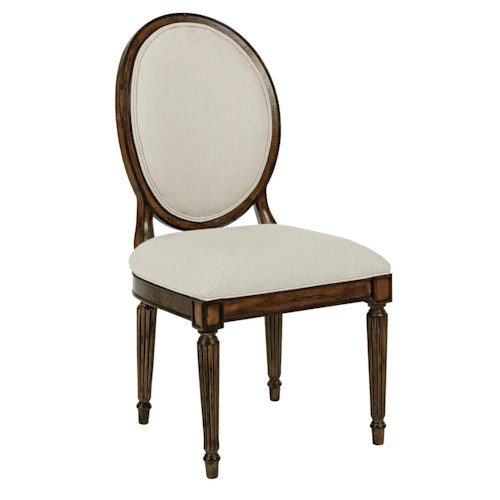 Kincaid Furniture Artisan's Shoppe Dining Traditional Upholstered Oval-Backed Dining Side Chair