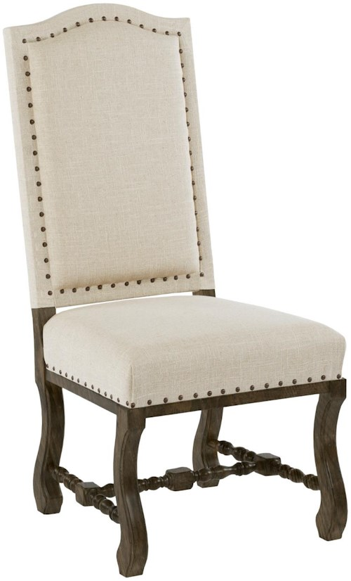 Kincaid Furniture Artisan's Shoppe Dining Traditional Upholstered Dining Side Chair with Antique Nailhead Border