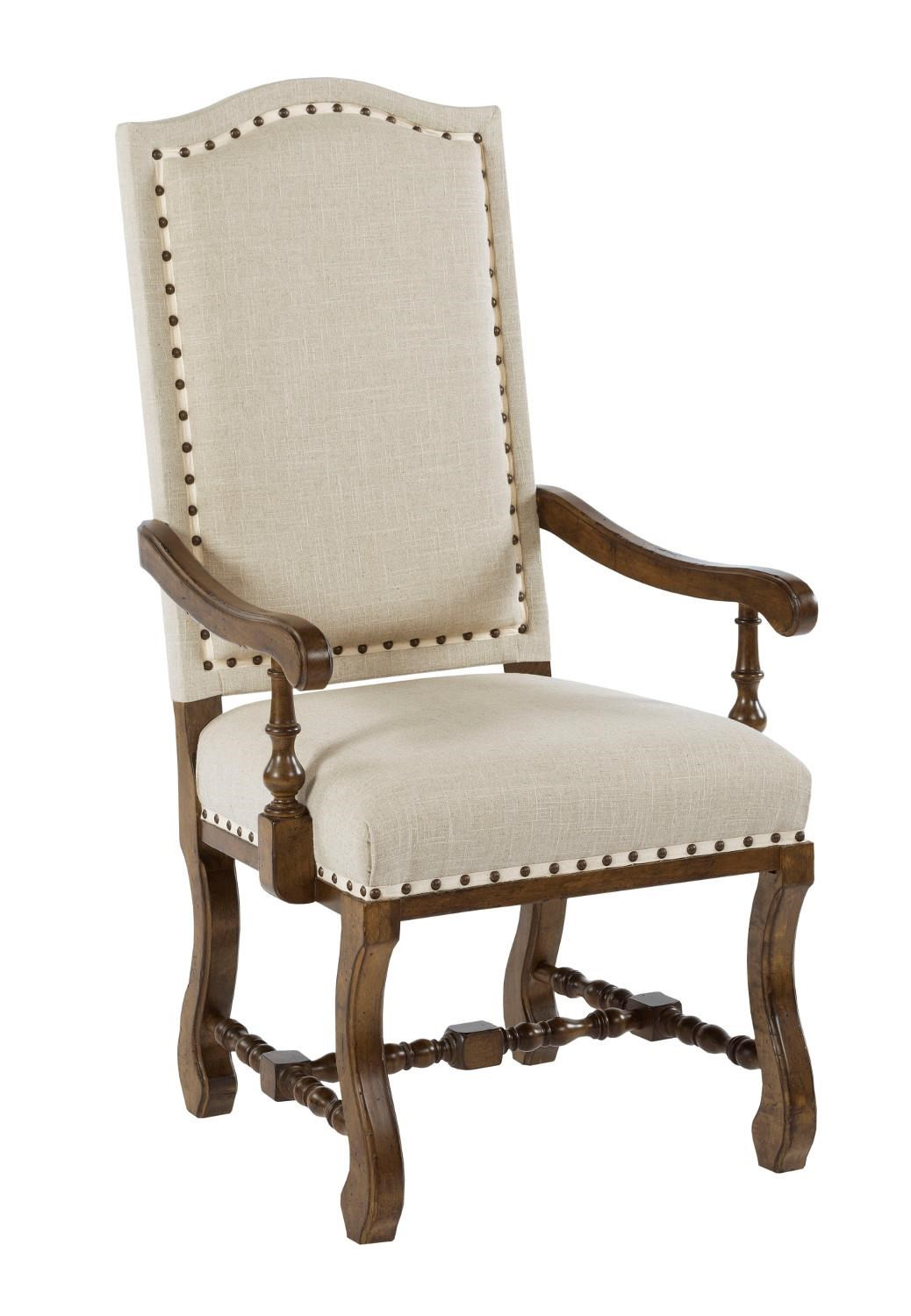 Dining Arm Chairs Upholstered kincaid furniture artisan's shoppe dining traditional upholstered