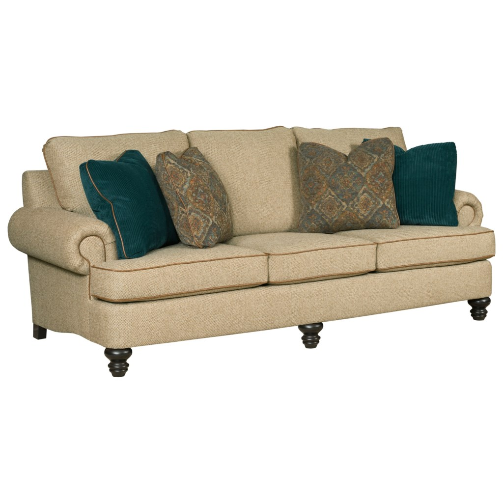 Kincaid Furniture Avery Traditional 94 Grand Sofa With Rolled Arms