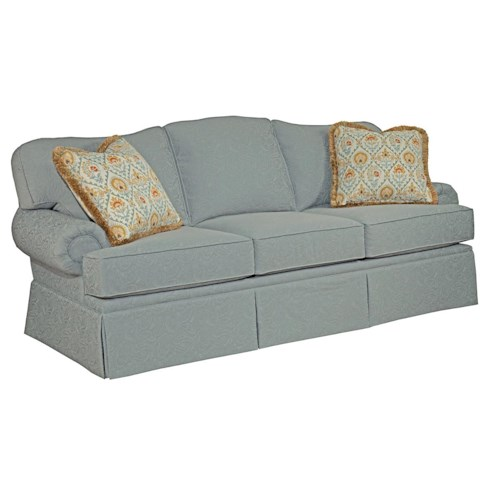 Kincaid Furniture Baltimore Traditional Sofa with Rolled Arms
