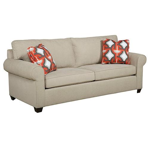 Kincaid Furniture Brannon Transitional Rolled Arm Sofa
