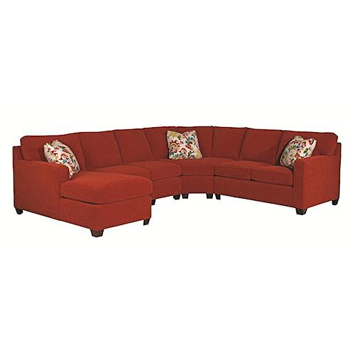 Kincaid Furniture Brooke Five Piece Sectional Sofa