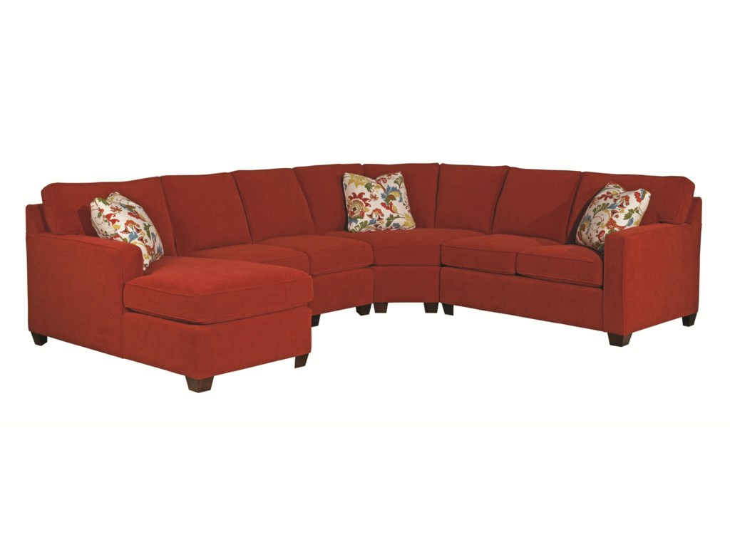 Kincaid Furniture Brooke Five Piece Sectional Sofa