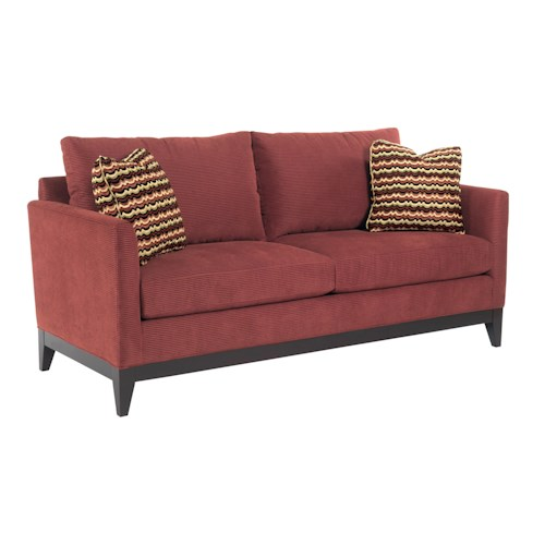 Kincaid Furniture Brooklyn Contemporary Sofa with Exposed Wood Trim