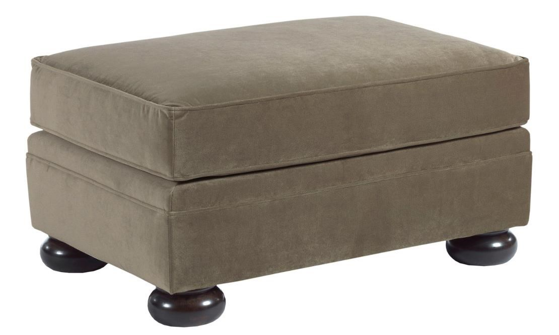 Kincaid Furniture Camden Ottoman With Wooden Bun Feet