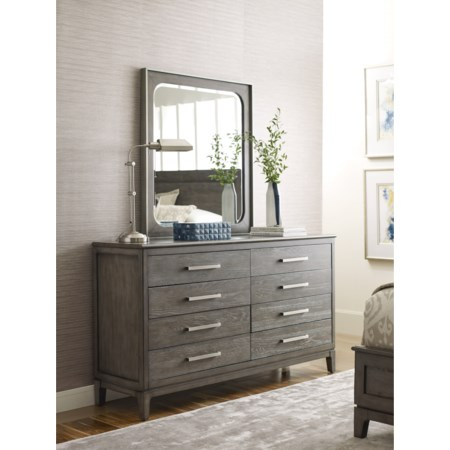 Sellers Drawer Dresser and Mirror Set