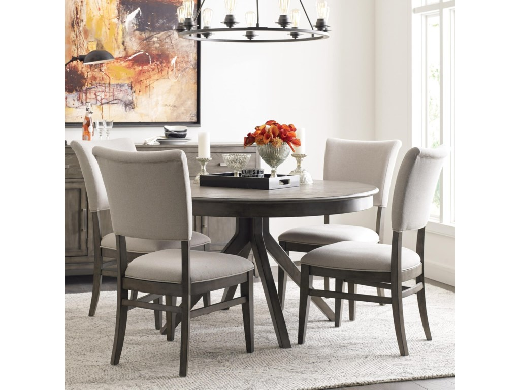 Cascade Round Dining Table Set with 4 Chairs by Kincaid Furniture at Becker  Furniture World