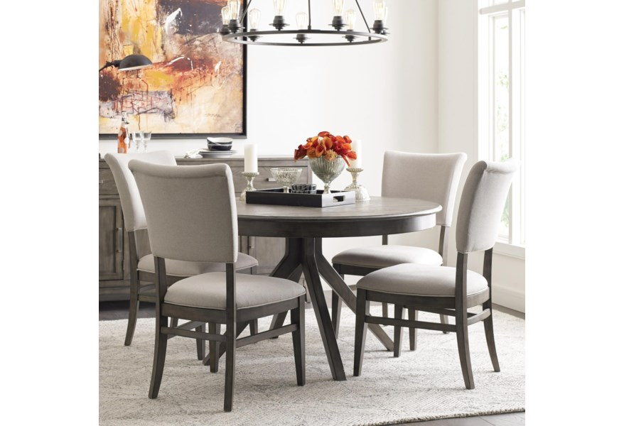 Tufted Chaise Lounge Chair, Kincaid Furniture Cascade Round Dining Table Set With 4 Chairs Becker Furniture Dining 5 Piece Sets
