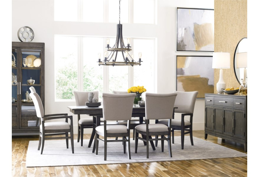 Kincaid Furniture Cascade Dining Table Set With 6 Chairs Belfort Furniture Dining 7 Or More Piece Sets