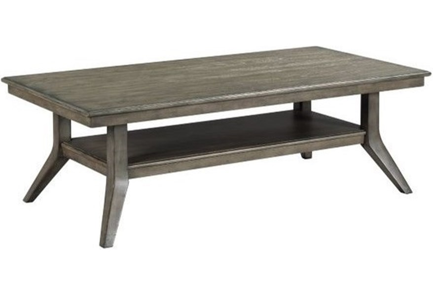 Kincaid Furniture Cascade Lamont Solid Wood Rectangular Coffee Table Lindy S Furniture Company Cocktail Coffee Tables