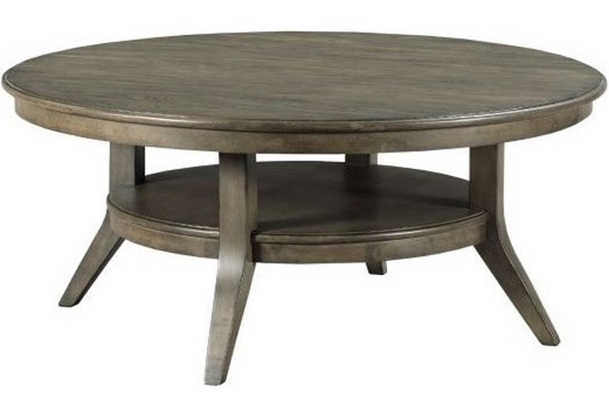 Kincaid Furniture Cascade Lamont Solid Wood Round Coffee Table Johnny Janosik Cocktail Coffee Tables