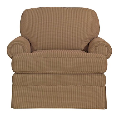 Kincaid Furniture Charlotte Skirted Customizable Chair