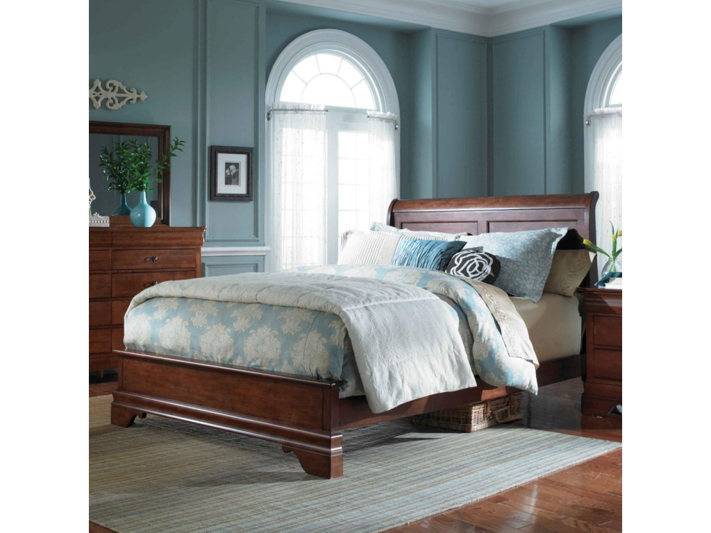Kincaid Furniture Chateau RoyaleQueen Low Profile Sleigh Bed