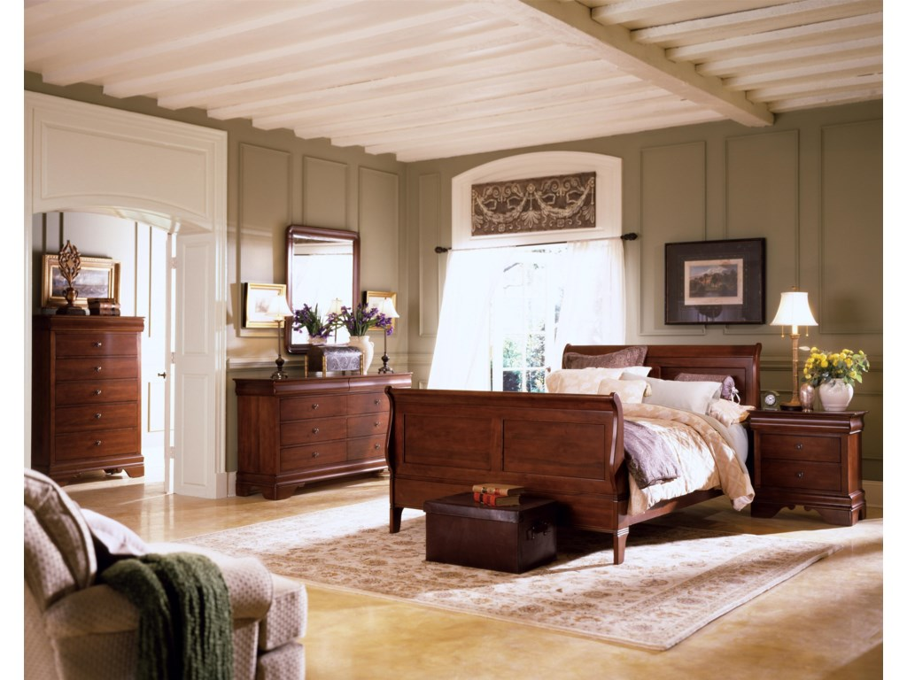 Shown with Drawer Dresser, Vertical Mirror, Sleigh Bed, and Nightstand