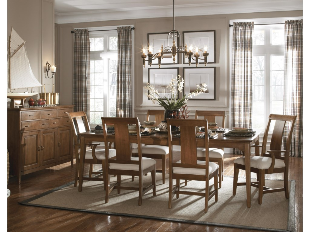 Kincaid Furniture Cherry Park7 Piece Table & Chair Set